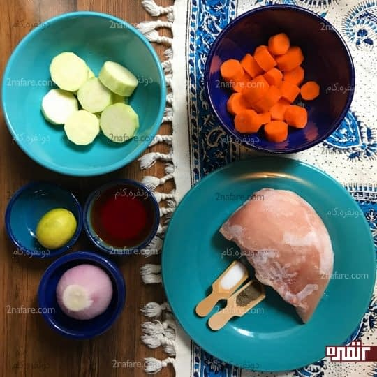 مواد لازم برای تهیه خوراک مرغ رژیمی