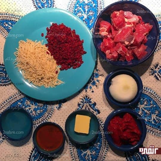 مواد لازم برای تهیه خورشت خلال