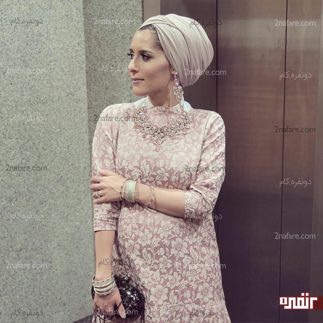 آموزش گیپور دوزی مدل بستن روسری برای لباس نامزدی • دونفره