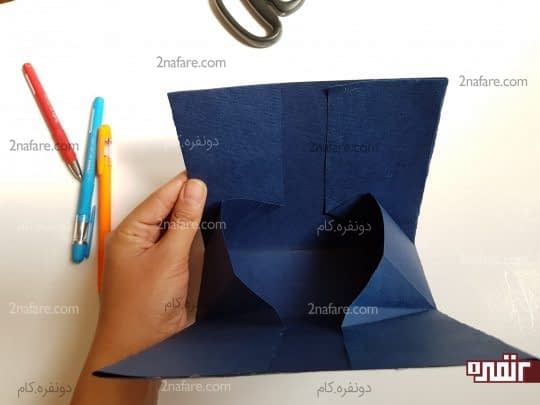 چسب زدن قسمت مثلثی