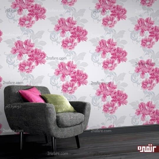 کاربرد کاغذ دیواری های گلدار در دکوراسیون داخلی