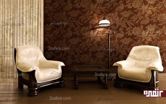 کاغذ دیواری شیک و زیبا برای اتاق نشیمن