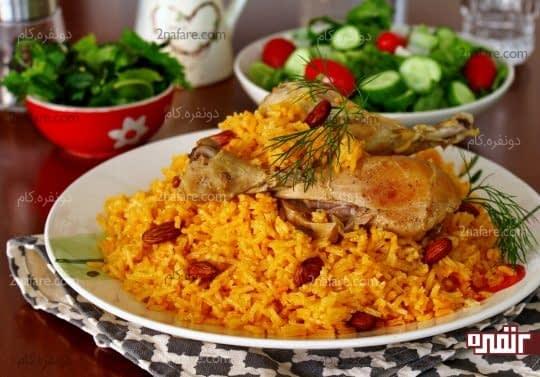 کبسه مرغ لبنانی
