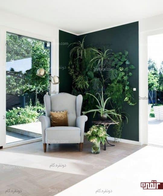 کنج سبز و محلی برای مطالعه در خانه های شیک و مدرن