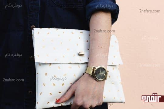 کیف دستی زیبای چرم