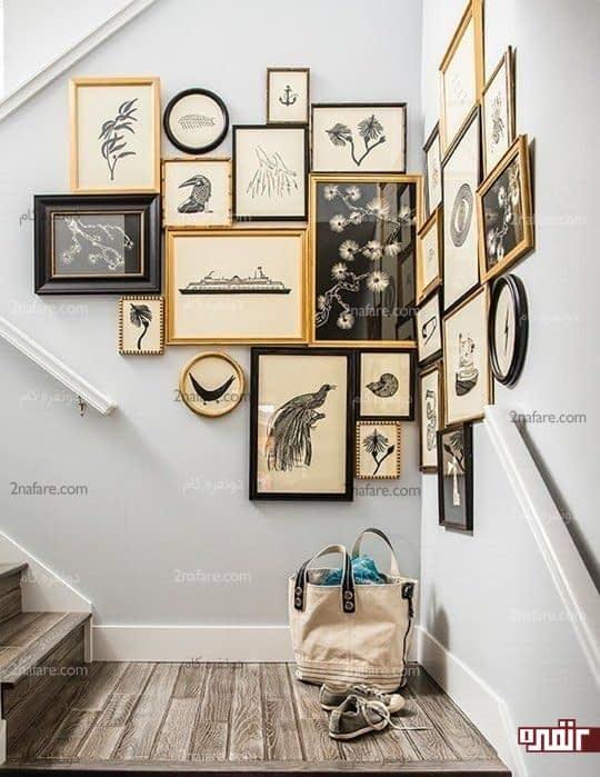 گالری بینظیر دیواری برای کنج خانه شیک و مدرن