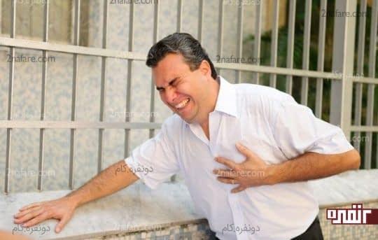 گرفتگی ناگهانی قلب و درد در قفسه سینه از خطرات ژلوفن