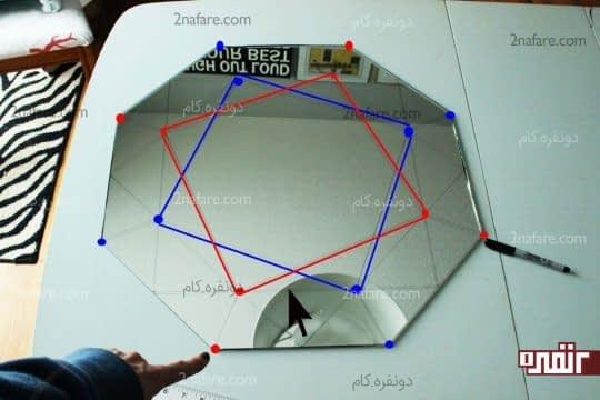 حذف خطوط صافی که روبروی اضلاع هشت ضلعی قرار دارند