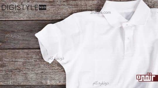 پلو شرت سفید مردانه