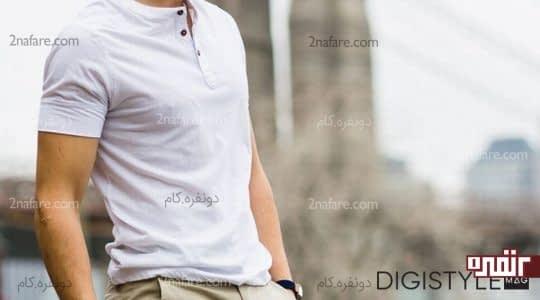تی شرت سفید مردانه