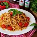 طرز تهیه اسپاگتی وجتریانو (گیاهی) مرحله به مرحله