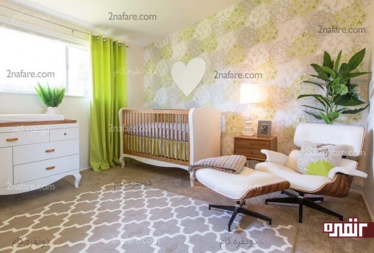 تخت کودک همراه با نرده
