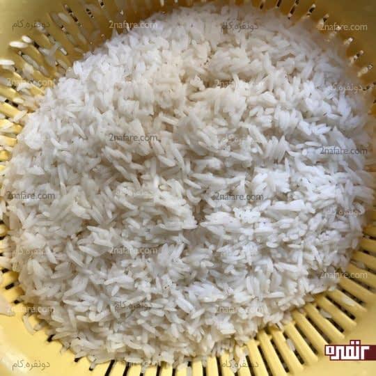آبکش کردن برنج