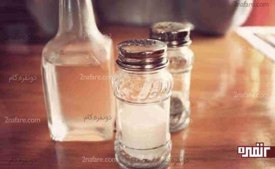 آب گرم و نمک شستشو