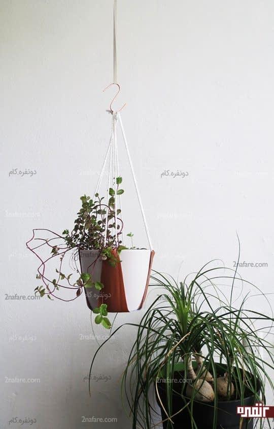 آموزش ساخت آویز چرمی برای گلدان ها