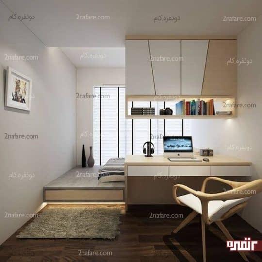 اتاق خواب با دکوراسیون ساده و بسیار جذاب