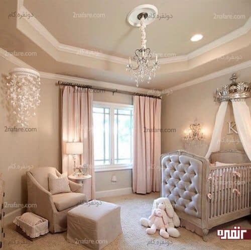 اتاق خواب دخترونه جذاب و مدرن