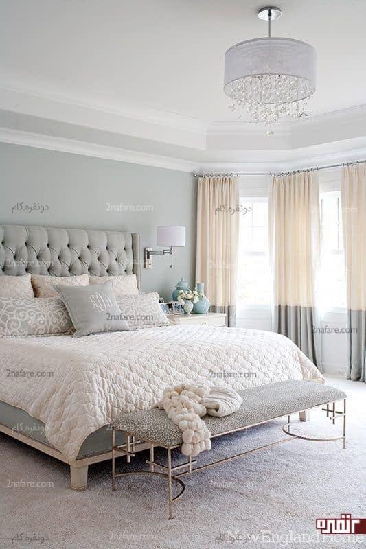 اتاق خواب دنج و زیبا به رنگ خاکستری