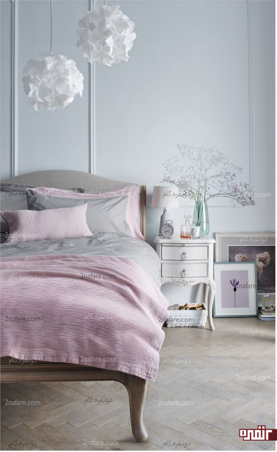 اتاق خواب راحت و جذاب با انتخاب لامپ و لوستر مدرن و شیک