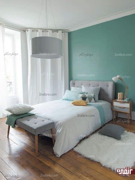 اتاق خواب مدرن سبز رنگ