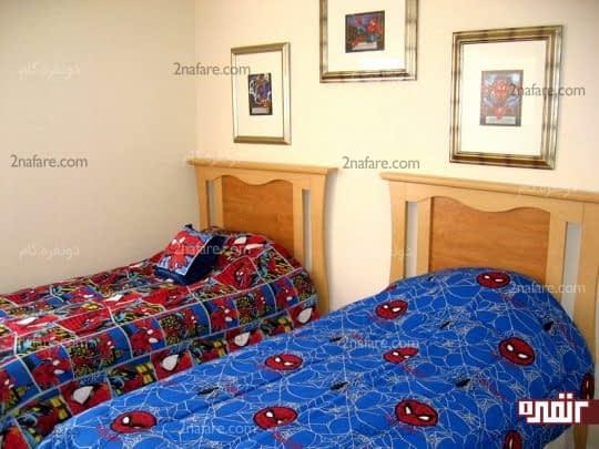 اتاق خواب پسرانه با تم مرد عنکبوتی
