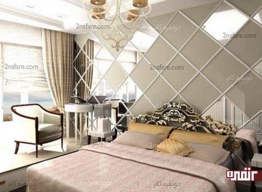 استفاده از آینه در دکوراسیون اتاق خواب مدرن