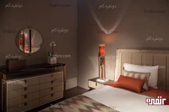 استفاده از رنگ خنثی برای اتاق خواب و رنگی شاد برای اکسسوری ها