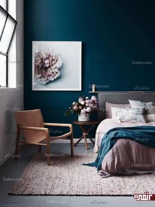 استفاده از گلهای شاخه ای در اتاق خواب