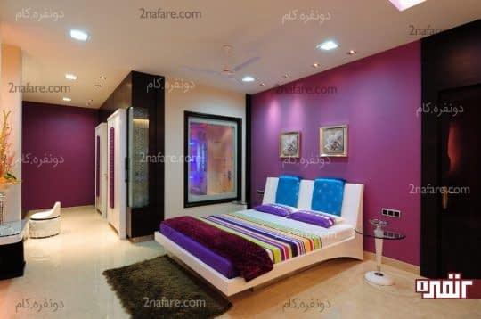 افزودن رنگ های شاد به اتاق خواب