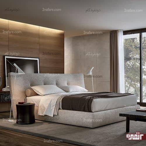 انتخاب تخت خواب مدرن و تمام پارچه