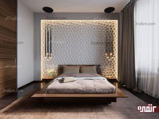 انتخاب طراحی های خاص و جذاب برای دیوار پشت تخت خواب