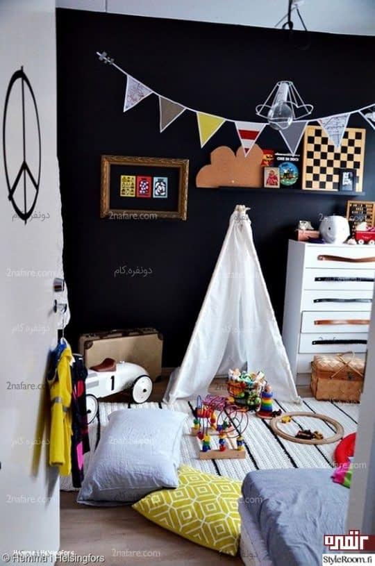 طراحی اتاق کودک با رنگ مشکی٬ شیک و متفاوت