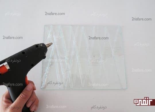 ایجاد شبکه های به هم پیوسته با چسب حرارتی روی شیشه