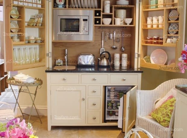 ایده های کارآمد برای مرتب سازی کابینت ها در آشپزخانه های کوچک
