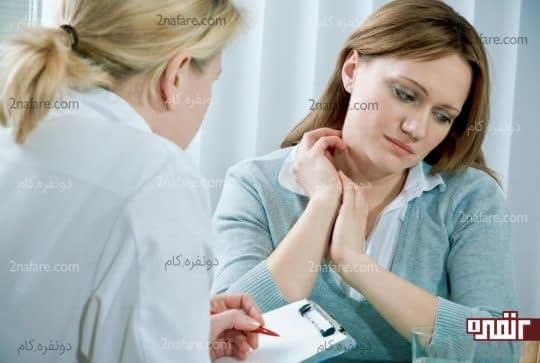 با پزشک مشورت کنید و علت ناراحتی رو بازگو کنین