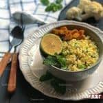 طرز تهیه غذای رژیمی، برنج گل کلم مرحله به مرحله