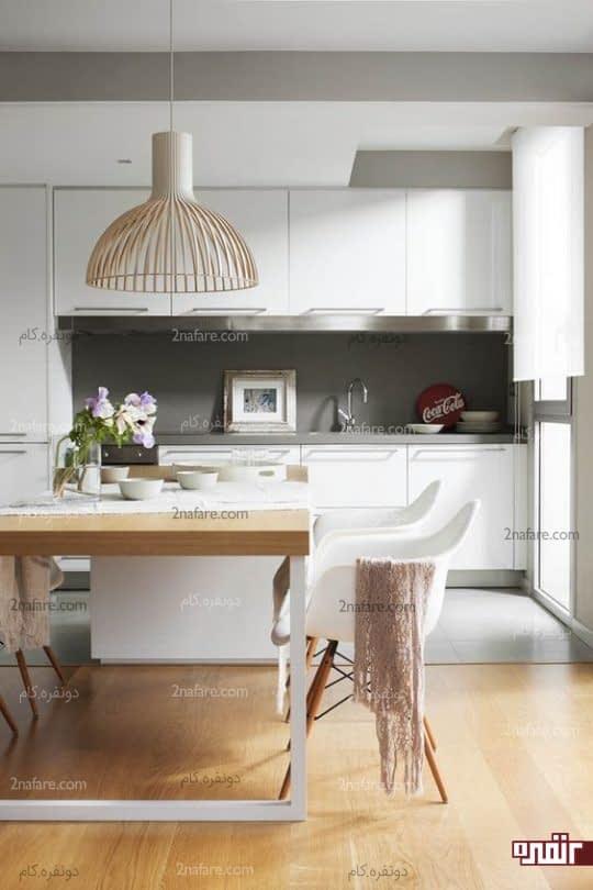 بزرگ نشان دادن آشپزخونه های کوچک و مدرن