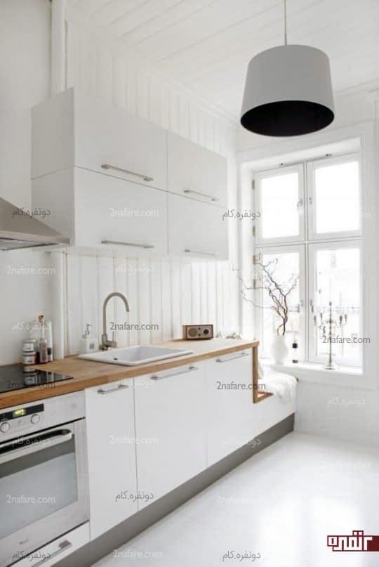 تأثیر وجود پنجره و نور مناسب به همراه فضای سفید در بزرگتر نشان دادن فضا