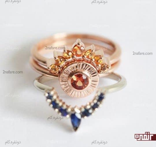 ترکیب رنگ خاص و جذاب حلقه نامزدی