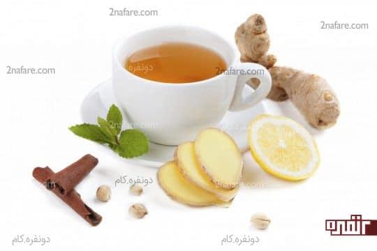 ترکیب چای سبز با دارچین و زنجبیل