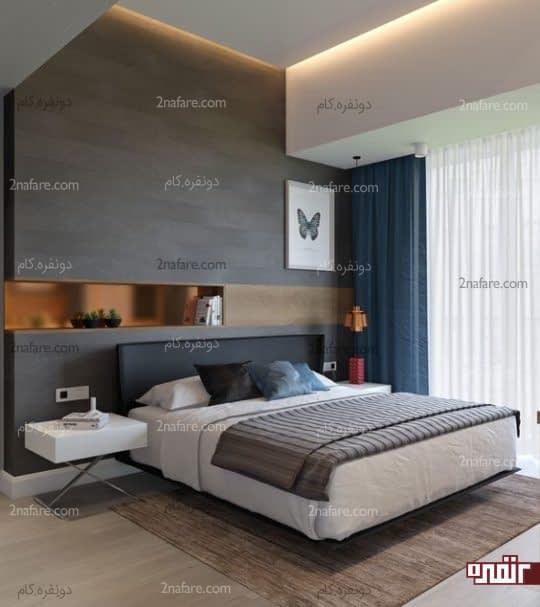 تزیینات زیبای دیوار پشت تخت خواب