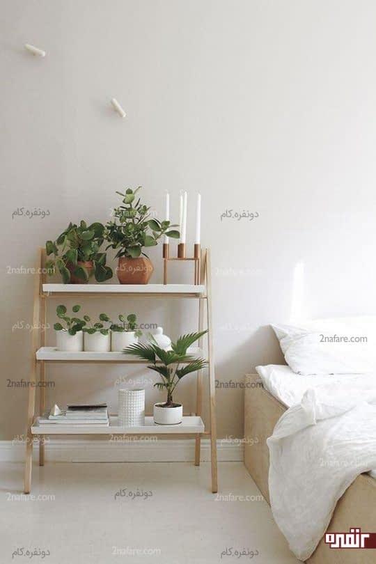 تزیین اتاق خواب با استندهای گل