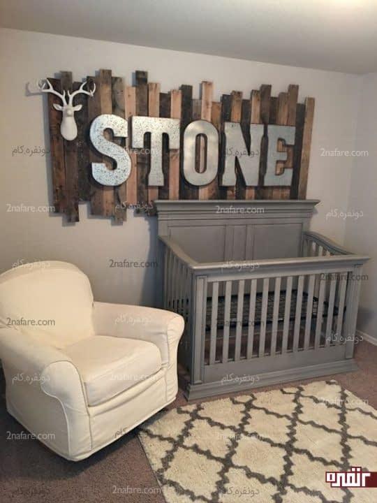 تزیین دیوار کنار تخت نوزاد