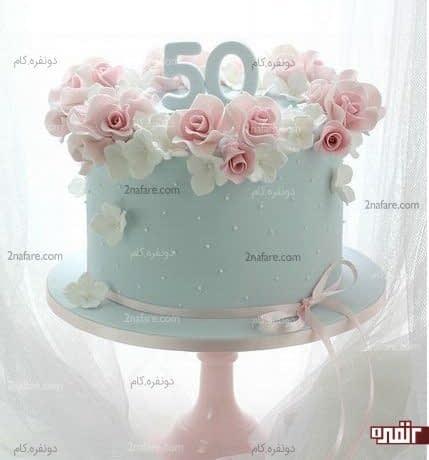 تزیین کیک تولد زیبا و شیک با فوندانت