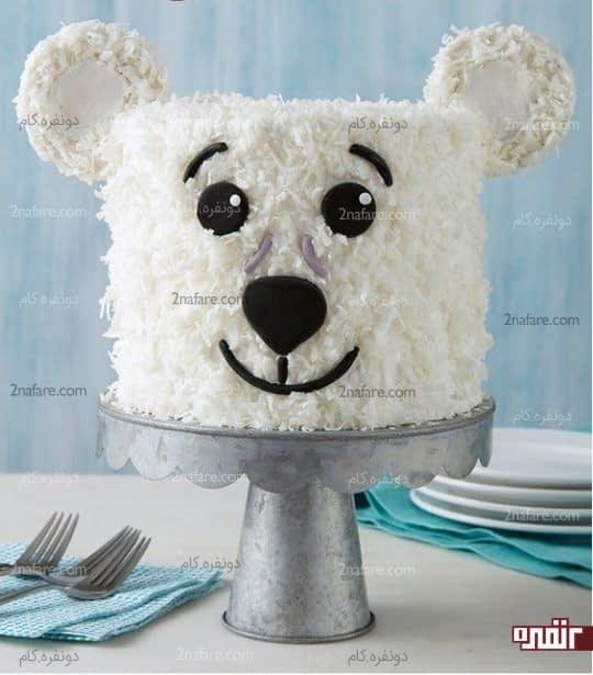 تزیین کیک تولد کودکانه با نارگیل