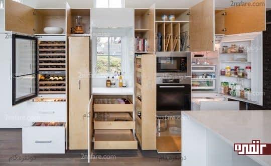 تقسیم کننده های عمود ی داخل کابینت ها در آشپزخانه