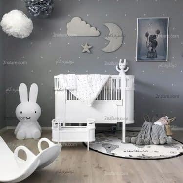 تم آسمان با وسایل دکوری زیبا برای اتاق کودک مدرن و جذاب