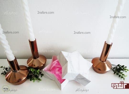 جعبه کادو با طرح قلب بسیار زیبا و ساده