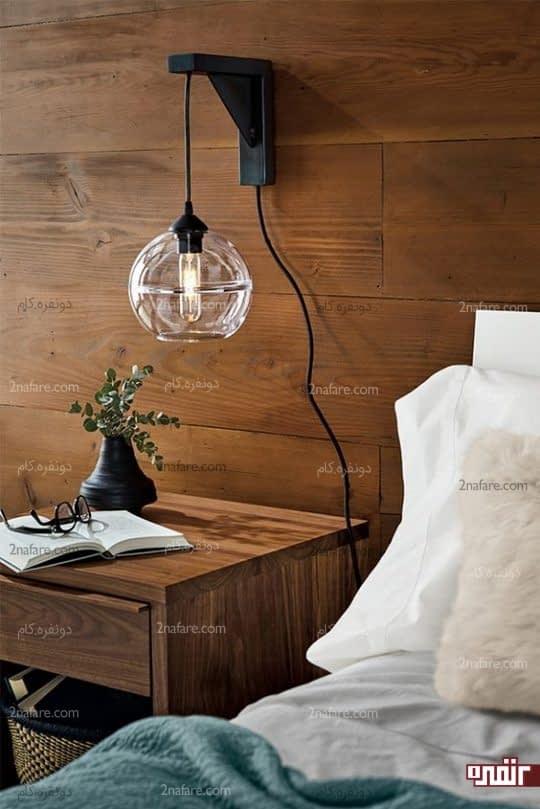 حباب های آویز برای چراغ های پایه دار دیواری