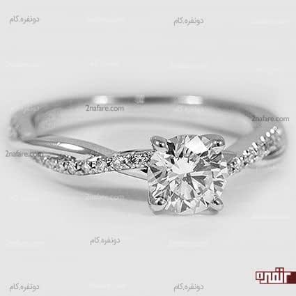 حلقه نامزدی شیک و زیبا با درخشش الماس